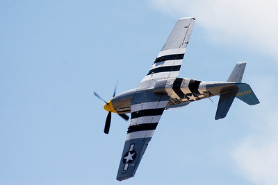 P-51 rolling