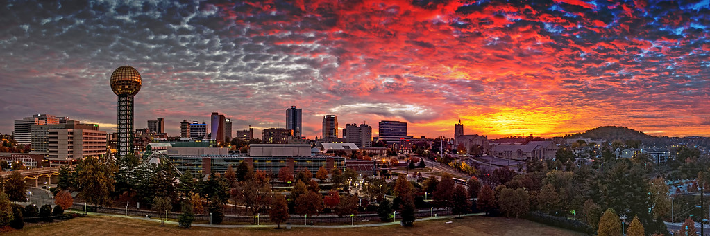 Knoxville Sunrise Panorama (a)