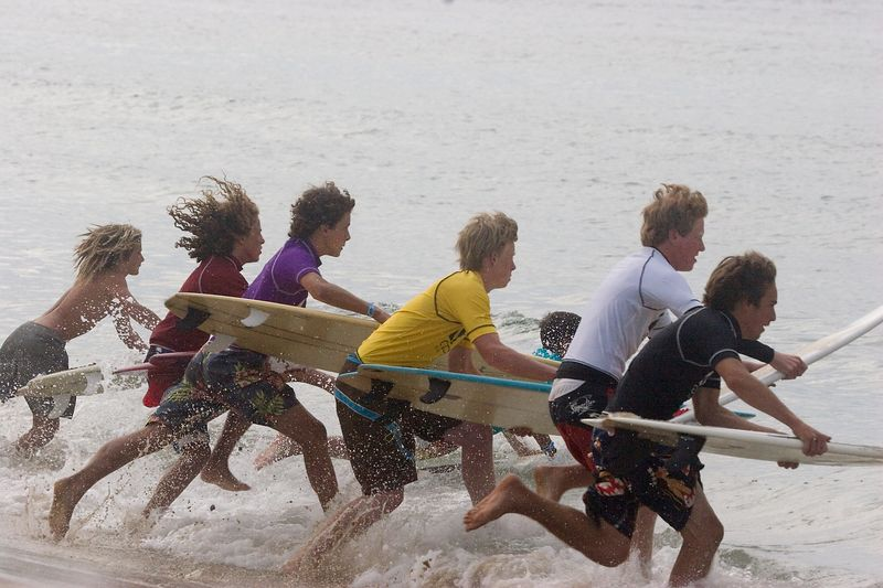<h1>Surf Contest Start</h1> The start of the Ozone Surf Classic on Nantucket Island, MA. <br><br> <i> <table> <tr><td>Taken:</td><td>7 August 2005</td></tr> <tr><td>KPotD:</td><td>17 September 2005</td></tr> </table> </i>