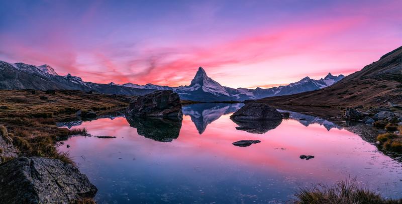 Matterhorn im Abendrot