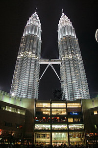Petronas Towers are absolutely stunning at night.