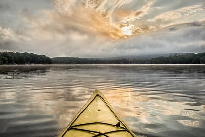 20x30 Kayak at Sunrise
