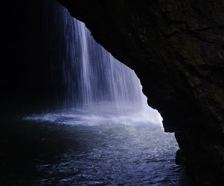 waterfall, at Natural Arch