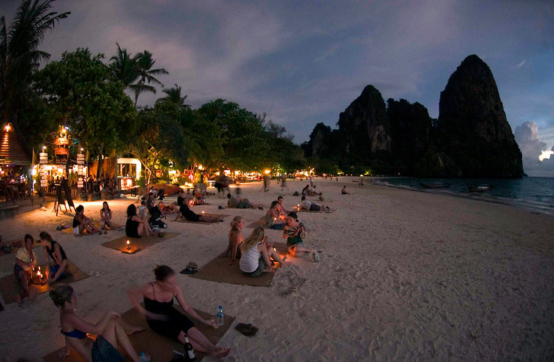 <h4>Waiting For The Sunset</h4>Railay Beach, Thailand