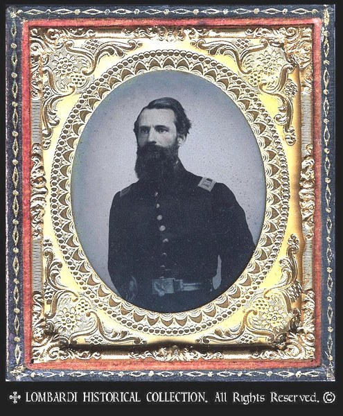 1/6 Plate AMBROTYPE. W/full case.<br /> <br /> Captain of U.S. Infantry. Ca. 1861.