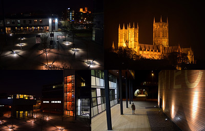 The University of Lincoln campus has some wonderful modern architecture and great views up to the cathedral on the hill