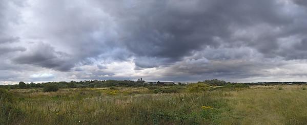 Dramatic evening skies in this photomerge panorama from Skewbridge