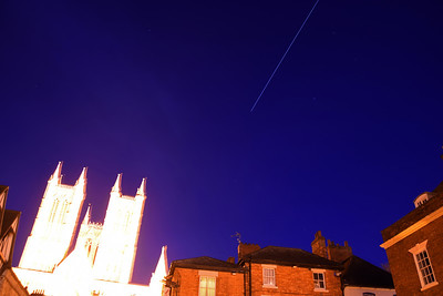 A very poor shot of the International Space Station passing over Lincoln Cathedral. I've included it as a curiosity not for photographic value :)