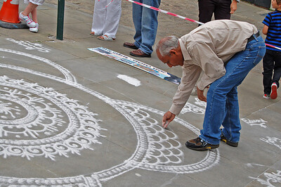 Rangoli Artist Janak Chauhan