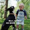 no more kisses
