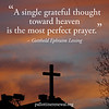 A single grateful thought