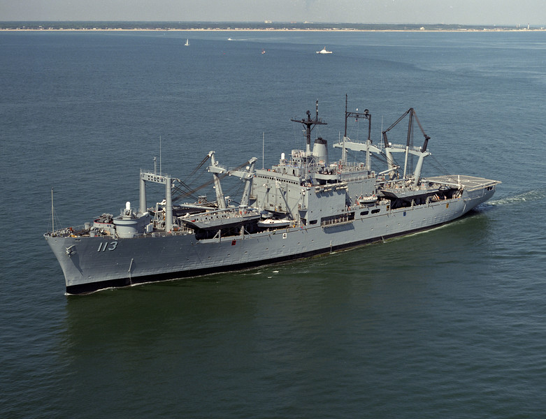 USS Charleston (LKA-113)<br /> <br /> Date: June 4 1989<br /> Location: Off Cape Henry VA<br /> Source: Nobe Smith - Atlantic Fleet Sales