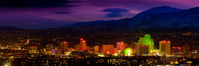Reno Nevada Pano Twilight