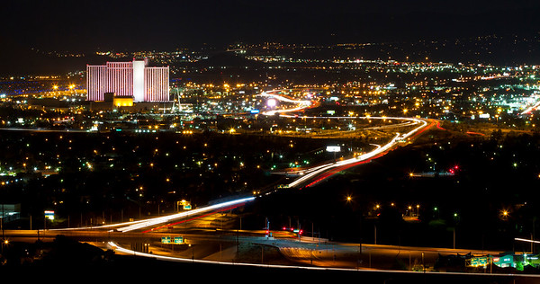 Reno Traffic Night Shot