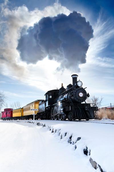 Carson Rail Museum Backlit Steam Cloud