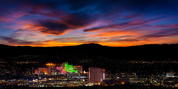 RENO CITY PANO FROM CLEAN WATER