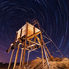 Virginia City Headframe Wide Angle with Star Trails