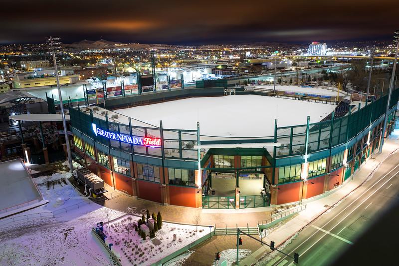 Greater Nevada Field Winter Night Shot