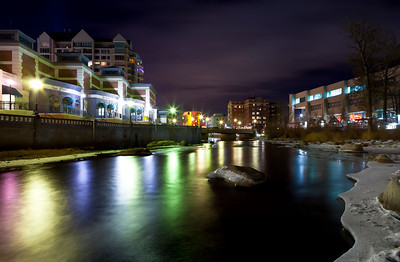 Frozen River Downtown Reno NV Night