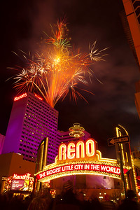 Downtown Reno Fireworks New Years 2013 Arch