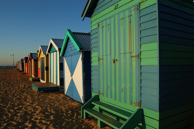 Beach Boxes on Brighton Beach, Australia