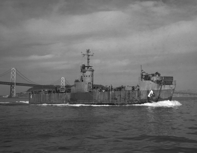 USS LSM(R)-4<br /> <br /> Date: Unknown<br /> Location: San Francisco CA<br /> Source: Nobe Smith - Atlantic Fleet Sales