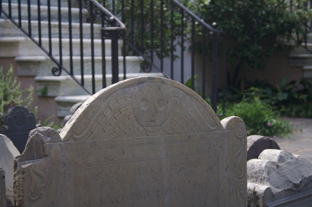 Headstone at the Circular Church