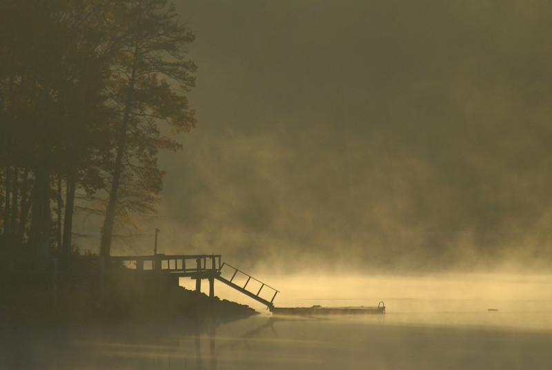 Lake Seccession Dock at Dawn