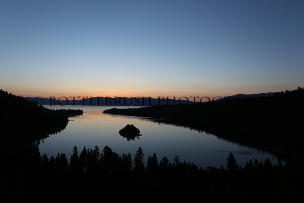 Sunrise at Emerald Bay at Lake Tahoe, California