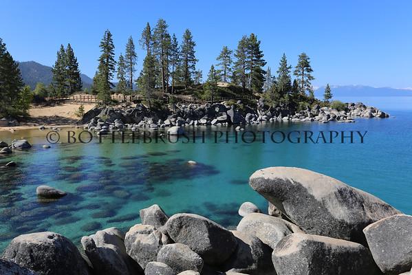 Sand Harbor at Lake Tahoe, Nevada.