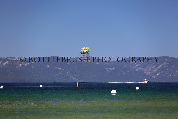 Parasailing at Lake Tahoe.
