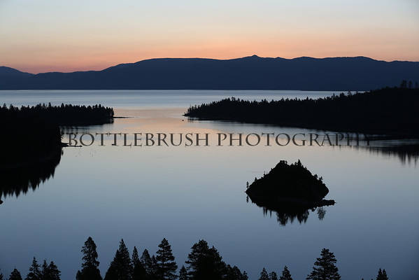 Sunrise at Emerald Bay at Lake Tahoe, California.
