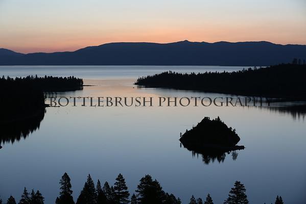 Sunrise at Emerald Bay at Lake Tahoe, California.