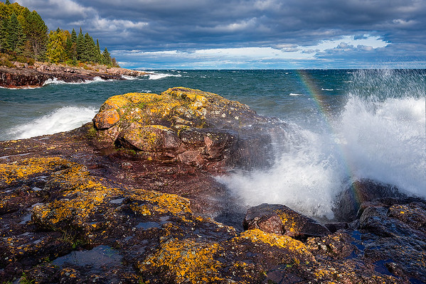Crashing Waves & Rainbow