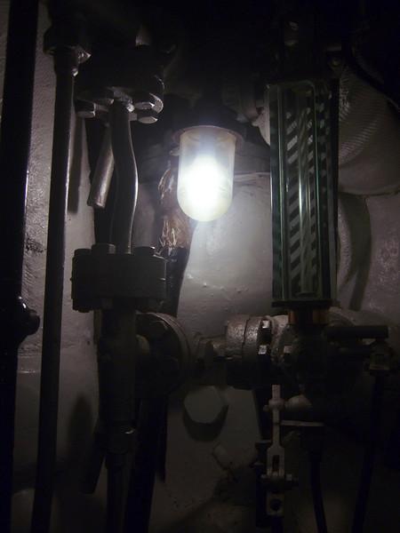 Lamp on HMS Belfast, London - Photo by Martin Byford-Rew