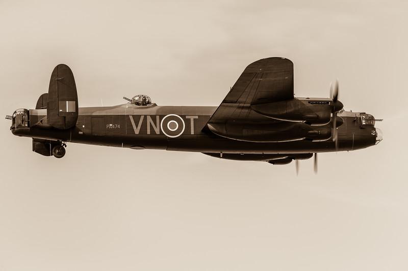 Closeup of the Lancaster bomber