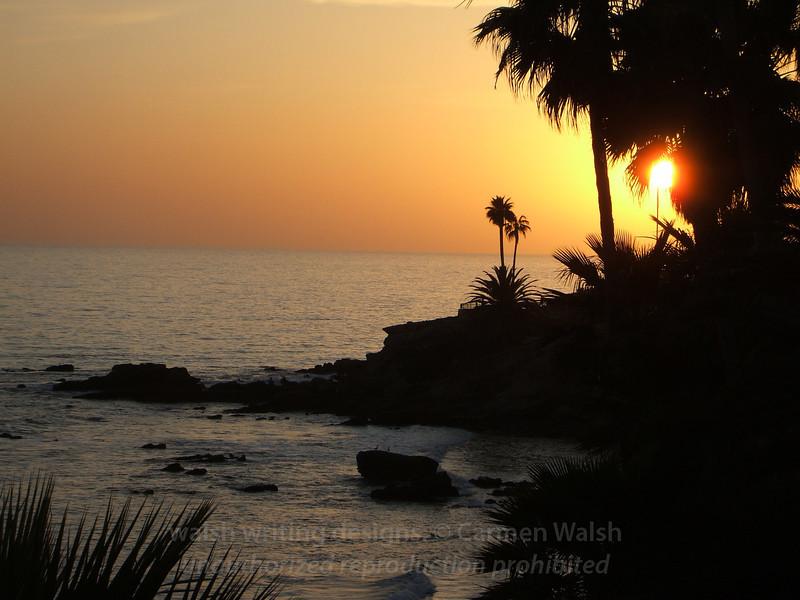 Laguna Beach ocean sunset