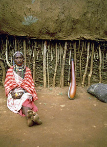 Maasai Woman with Kibuyu