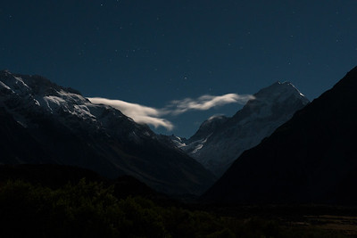 Moonlight on Aoraki