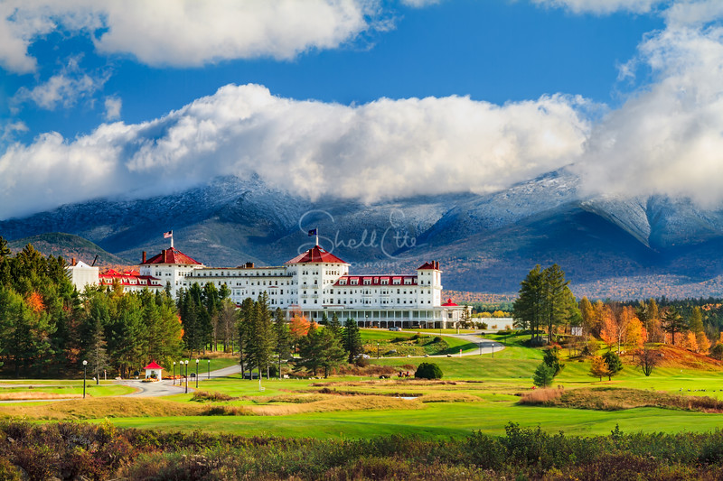 Mount Washington and Resort Under a Cloud