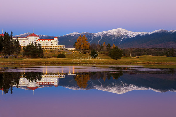 Mt Washington Resort and Mt Washington Golden Hour Reflection