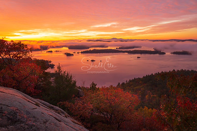 Sunrise Flames on Squam Lake