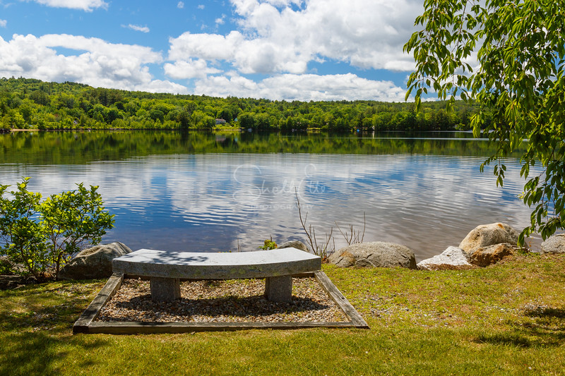 Summer Day Bench on Lake Waukewan