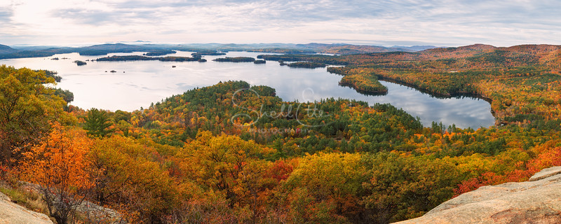 Autumn Squam Lake from West Rattlesnake