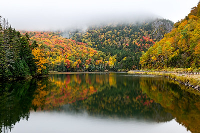 Lake Gloriette Autumn Fog Reflection