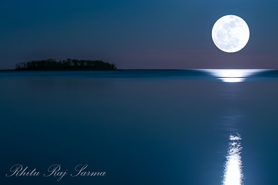 Fullmoon Night on Myrtle Beach, Milford CT