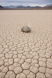 Racing rock on the Playa. Death Valley National Park, CA