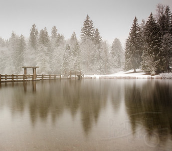 winter at silver lake. washington.