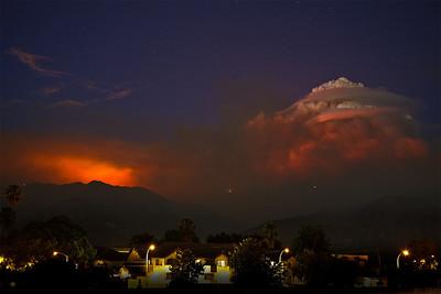 Pyrocumulus over Mt. Wilson