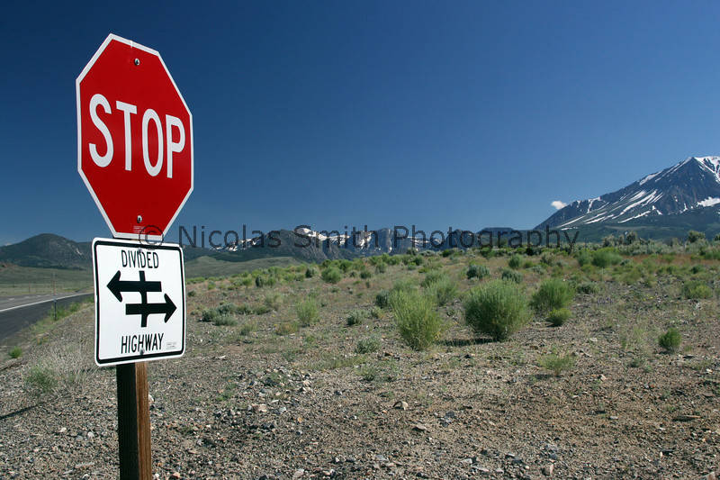 Highway 395, Eastern Sierra, 2006;  *All images and gift items print without the watermark*